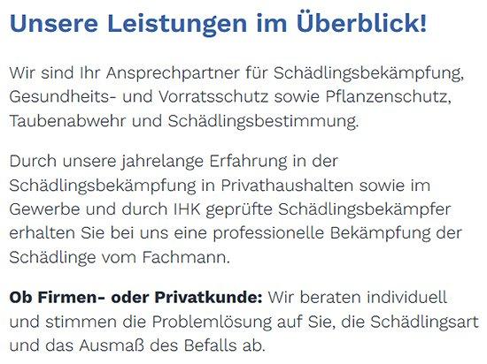 Schädlingsbekämpfung im privaten Haushalt in  Hildrizhausen - Altdorf, Holzgerlingen und Ehningen